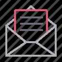 email, envelope, letter, message, open