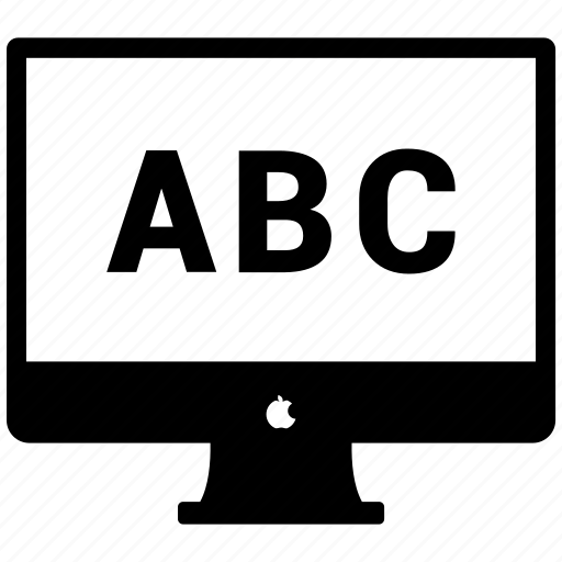 abc, alphabet, computer education, education icon