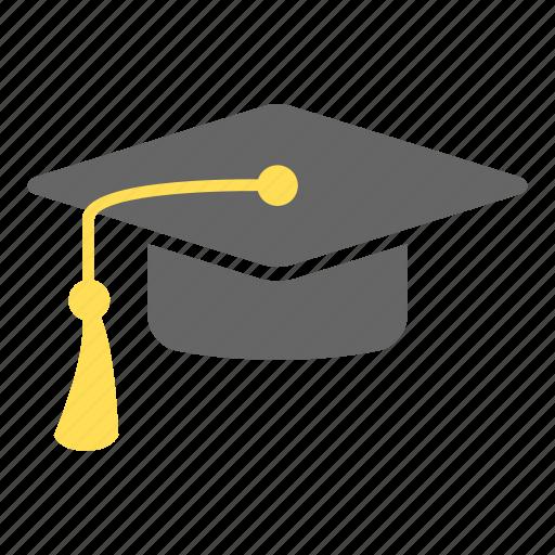 cap, education, graduation cap, graduation hat, hat, student, university icon