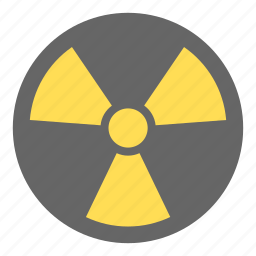 danger, electric, energy, light, nuclear, radiation, science icon