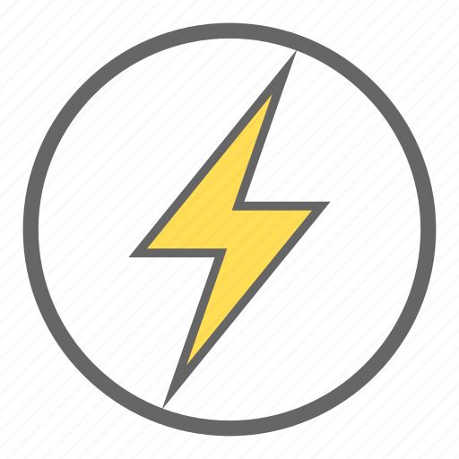 electric, electricity, energy, flash, lightning, nuclear power, thunder icon