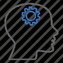 person, head, gears, creative, idea, brain gear, intelligence