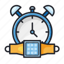 alarm, bell, education, notification, school, smartwatch, time icon