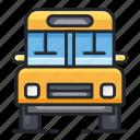 bus, education, school, transport, transportation icon