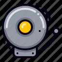alert, fire alarm, school bell icon