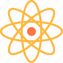 atom, atomic, chemical, colage, education, school icon