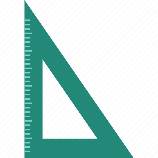 colage, education, liner, math, ruler, school, triangle icon