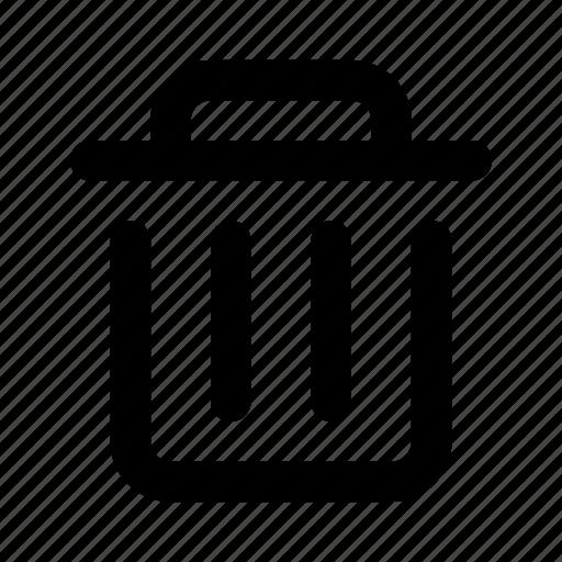 bin, delete, dump, garbage, recicle, remove, trash icon