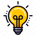 brainstorming, creativity, idea, lightbulb icon