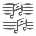eighth note, melody, music notes, music, quaver icon