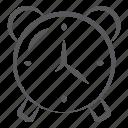 alarm clock, alert clock, clock, ringing clock, timer icon