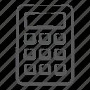 adding device, calculation, calculator, digital calculator, number cruncher, totalizer icon