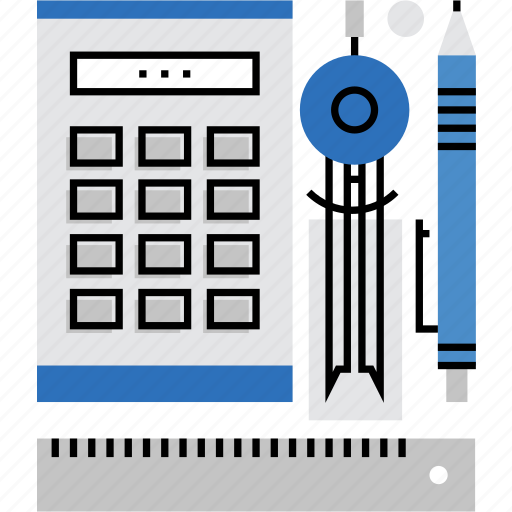 equipment, math, measure, measurement, school, stationery, tools icon