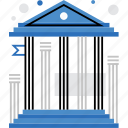 building, court, university, architecture, national, museum, bank icon
