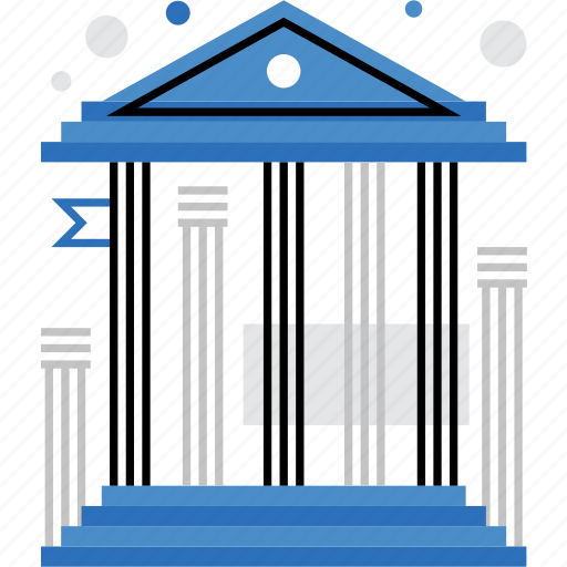 architecture, bank, building, court, museum, national, university icon