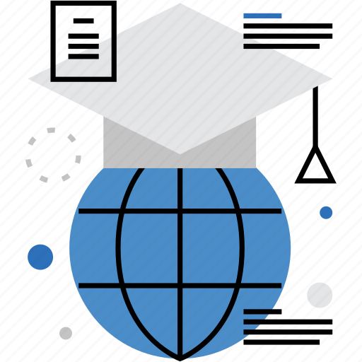 abroad, education, exchange, global, learning, study, worldwide icon