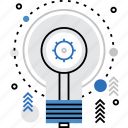 bulb, idea, invention, light, lightbulb, process, science icon
