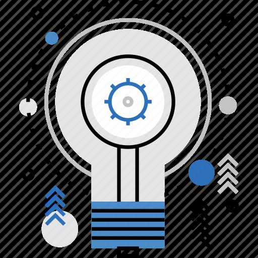 bulb, idea, invention, light, lightbulb, process, science icon