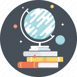 astrology, book, discover, earth, globe, planets, world icon