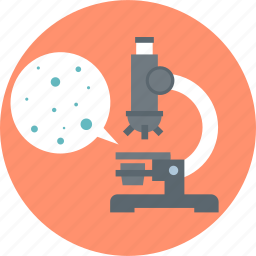 bacteria, discover, learn, look, magnify, microscope, science icon
