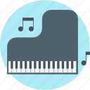 education, lesson, music, piano, school icon