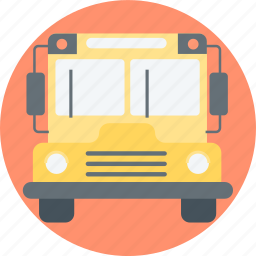 bus, go to school, school bus icon