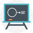 black board, chalk, draw, geometry, wireframe icon