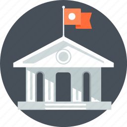 bank, building, historical, old building, university icon