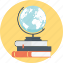 book, books, discover, earth, education, globe, learn icon