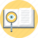 book, discover, eye, faq, find, magnifier, search