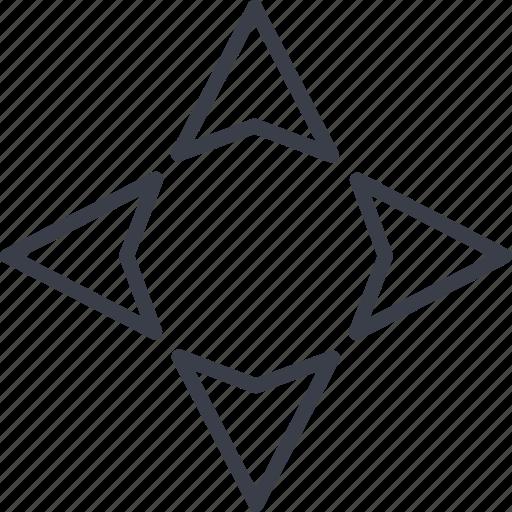 arrow, education, learning, school icon