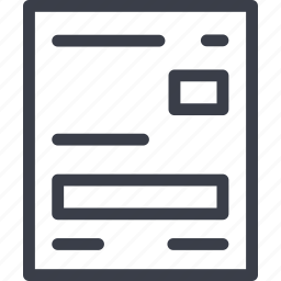 document, education, file, learning, paper icon