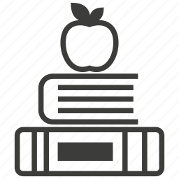 apple, book, education, knowledge, reading, school, study icon