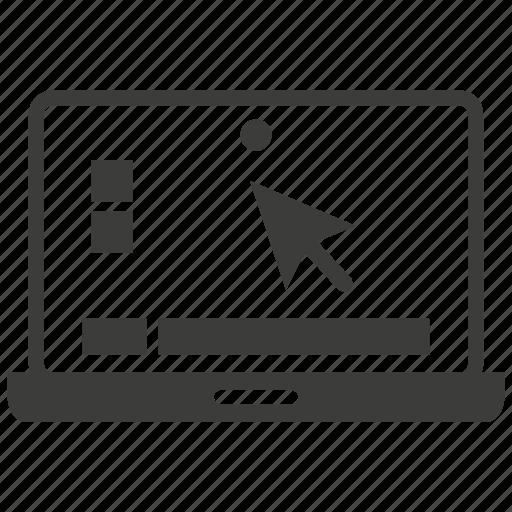 computer, desktop, display, laptop, notebook, pc, screen icon