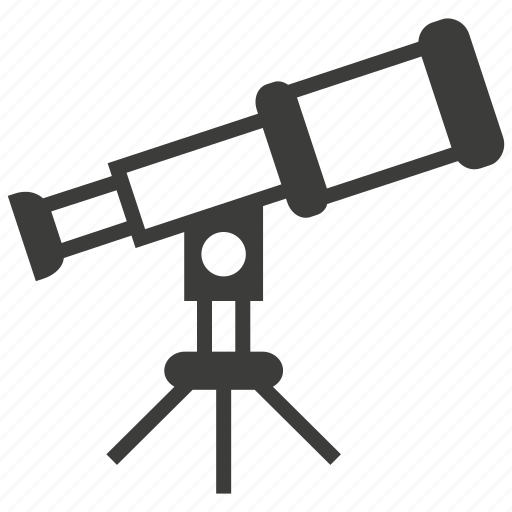 astronomy, binoculars, find, space, telescope, view, zoom icon
