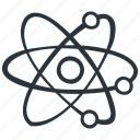 atom, education, molecular, molecule, physics, science icon