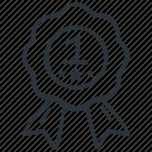 award, badge, medal, prize, reward, winner icon