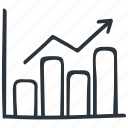 analytics, chart, diagram, graph, growth, infographic, statistics icon