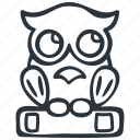 book, education, owl, wisdom, wise icon