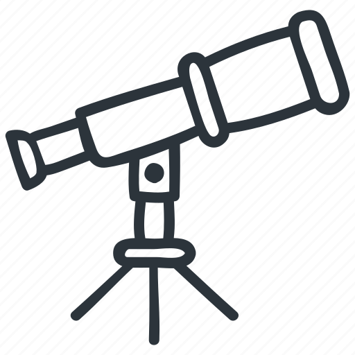 astronomy, discover, discovery, star, telescope icon
