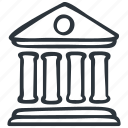 bank, banking, building, courthouse, university icon