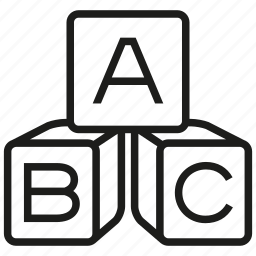 abc, alphabet, block, blocks, kids, letter, text icon