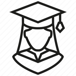 avatar, female, girl, graduation, lady, user, woman icon
