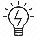 bulb, business, idea, intelligent, lamp, light, smart icon