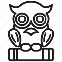 bird, book, education, halloween, night, owl, study icon