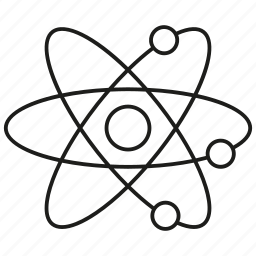atom, atomic, chemistry, molecule, research, science, test icon