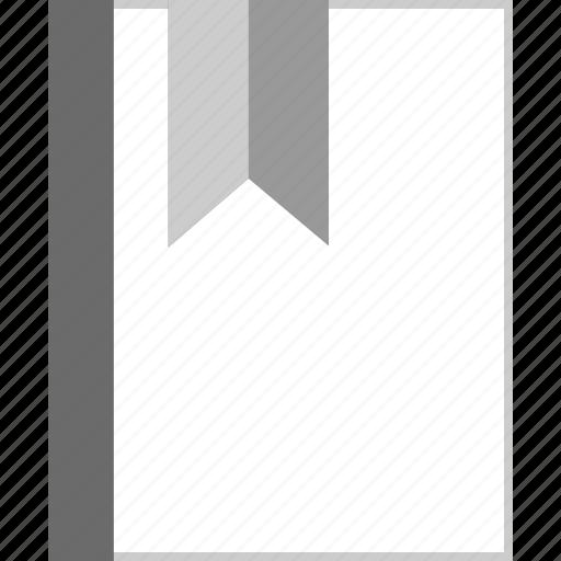 book, bookmark, education, ribbon icon