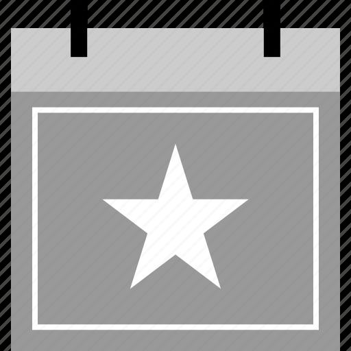 calendar, event, star, upcoming icon