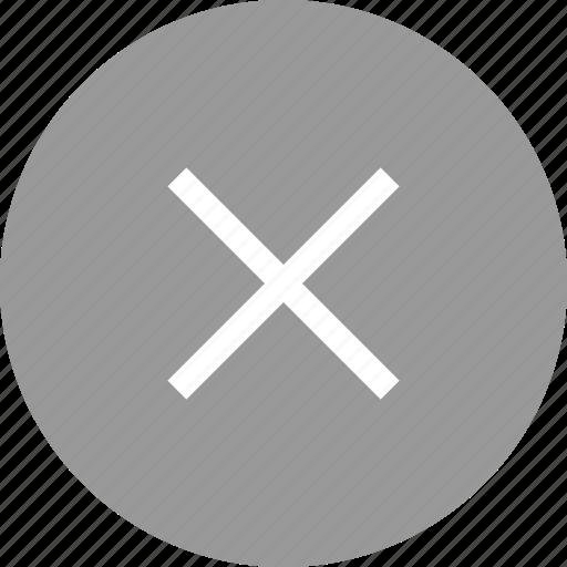 delete, stop, times, x icon