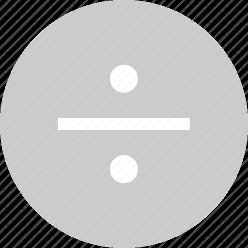 divide, division, math, problem icon